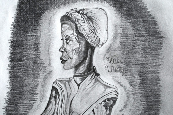 Drawing of Phyllis Wheatly by a student at a therapeutic boarding school