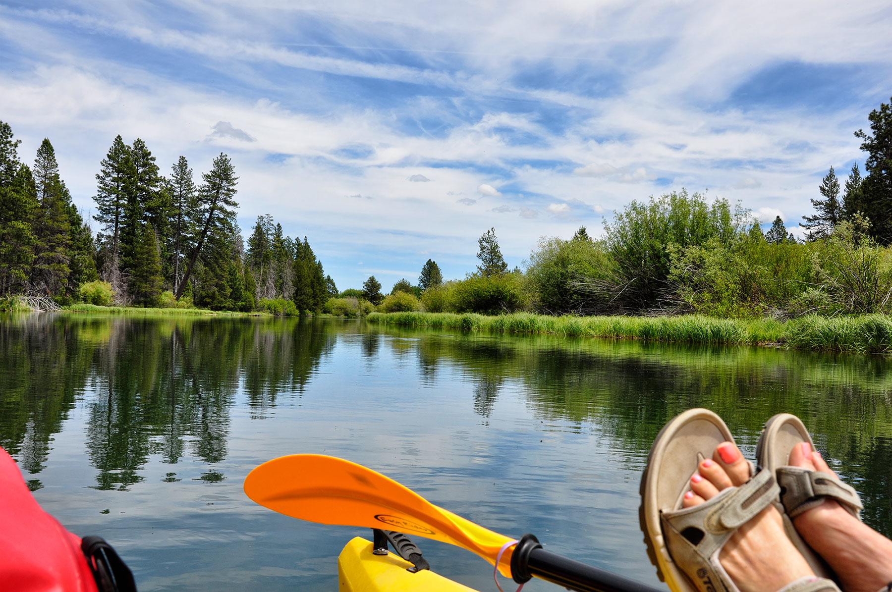 Floating the Deschutes near Bend, Oregon