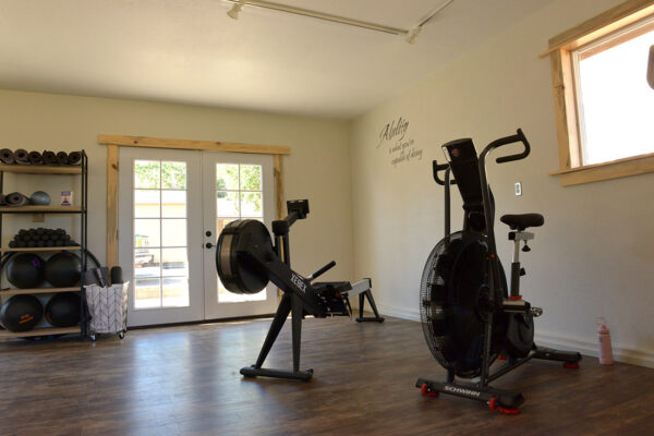 The new wellness center provides a space for individual and group exercise.